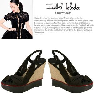 🆕Sally Split Jute Designer Wedges - Isabel Toledo